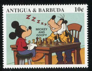 antigua et barbuda chess échecs disney 1997