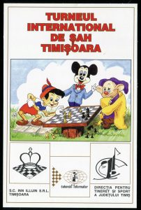 cartes postales cards disney chess