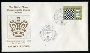 lettre 13 07 1972 chess iceland timbre echecs